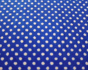 SALE Japanese Quilting Cotton Fabric - Royal Blue Tiny Dots Fabric By The Yard (TD08) - Half Yard