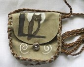 Green Owl Eyes Shaman Medicine Bag RESERVED FOR GMANZOTTI