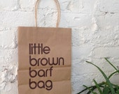 One (1) Little Brown Barf Bag, unlimited edition screenprint