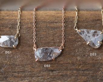 Custom Diamond Slice Necklace