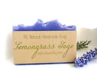 SOAP - Lemongrass Sage Handmade Homemade Soap, Cold Process Soap, Gift Idea, Soap Loaves, Soap Loaf, Bulk Soap