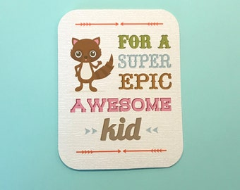 SALE 'For a Super Epic Awesome Kid' blank greeting card