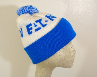 Vintage EATON winter hat with POM advertising
