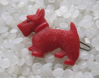 vintage barrette,  little red scottie scottie dog