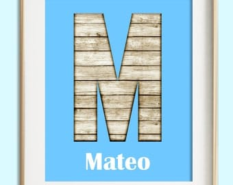 Personalized Nursery Wall Art, Beach Theme Nursery Decor, Rustic Nursery, Modern Nursery, Baby Boy Nursery, Gift For Kids, Baby Shower Gift