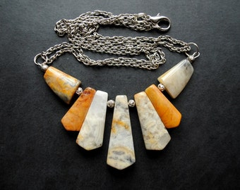 Necklace/Pendant - Sunrays - multifunctional, modern, unique, art to wear, ooak, contemporary - by Schneider Gallery