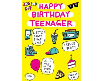 Birthday Card - Happy Birthday Teenager