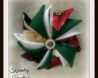 HANDMADE QUILTED Ornament/Quilted Star Ornament/Pointed Star/ Quilted Pointed Star Ornament  (Ready to Ship)