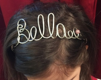 Toddler headband Personalized Name Tiara Hair Crown PHOTO OP Youth and Adult