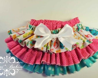 Ready to Ship 6-9 mos. Fancy Pants Ruffled Diaper Cover