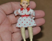 Vintage Caco Dollhouse Doll Little Girl German Made