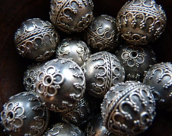 Vintage Indonesian silver beads