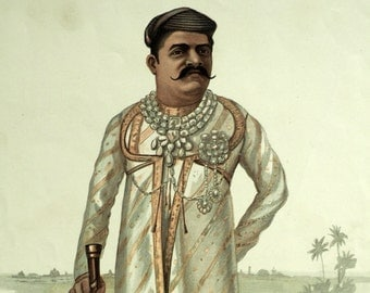 Vanity Fair Print - The Gaekwar - Maharaja of Baroda - 1901 Antique Chromolithograph - Gift for Him
