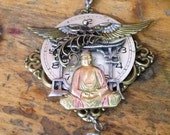 Fly Away with the Buddha Steampunk Necklace