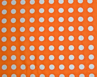 COUPON CODE SALE - End of Bolt - Moda, Oh Deer, Dots, Tangerine Orange, Momo, 100% Cotton Quilt Fabric, Quilting Fabric