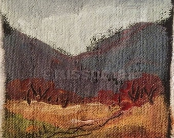 Transitions, original acrylic landscape painting on canvas, small art, ready to frame, Russ Potak Art and Collectibles