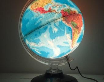Vintage Rand McNally Illuminated Globe