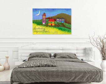 Stretched Canvas Print : 24x36 Awakening Requires Rest- Gallery Wrapped 1.5 inch sides