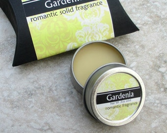 Gardenia Solid Perfume, Natural perfume, purse friendly screw top tin