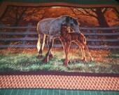 Horses Fleece Throw Blanket
