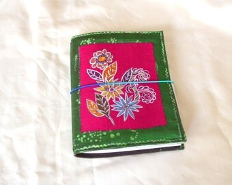 Painted Silk Journal.  Magenta. Art Journal Cover