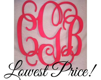 Wooden Monogram SALE!!! Ships in 1 week - Large wood monogram at the best prices!
