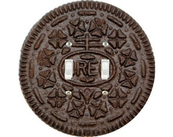 Chocolate Sandwich Cookie Double Toggle Switch Plate Cover