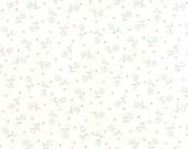 White Aqua Flower Sweetness Fabric - Sandy Gervais - Moda - 17855 11