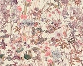 Liberty Tana Lawn Fabric Wild Flowers F One Yard Flora Illustrations Vintage Wash Detail