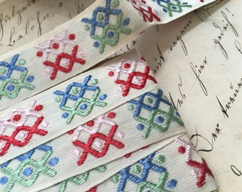 Vintage Trimtex Woven Decorative Tape, Vintage Sewing Trim