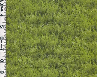 Fabric Elizabeths Studio Landscape Medley es 250 Green Grass print