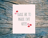 Take Me To Make Out City - A2 folded note card & envelope - SKU 318