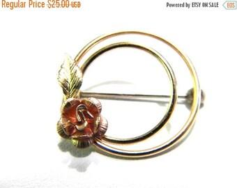 50% OFF Krementz Rose Circle Vintage Pin