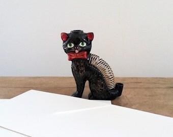 Whimsical Vintage Cat Letter Holder, for Photos or Notes