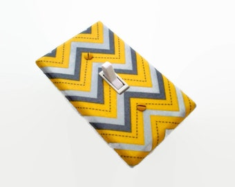 Chevron Light Switch Cover - Yellow Grey Nursery Decor - Gender Neutral Nursery - Chevron Decor Switch Plate Cover - Gray Yellow Bedroom
