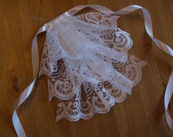 White Lace Jabot Meduim MADE BY ORDER