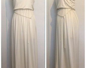 White Summer Maxi Dress Size 8