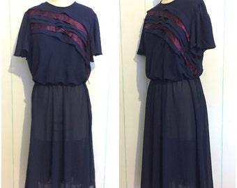 Shear Ruffled Dress Size