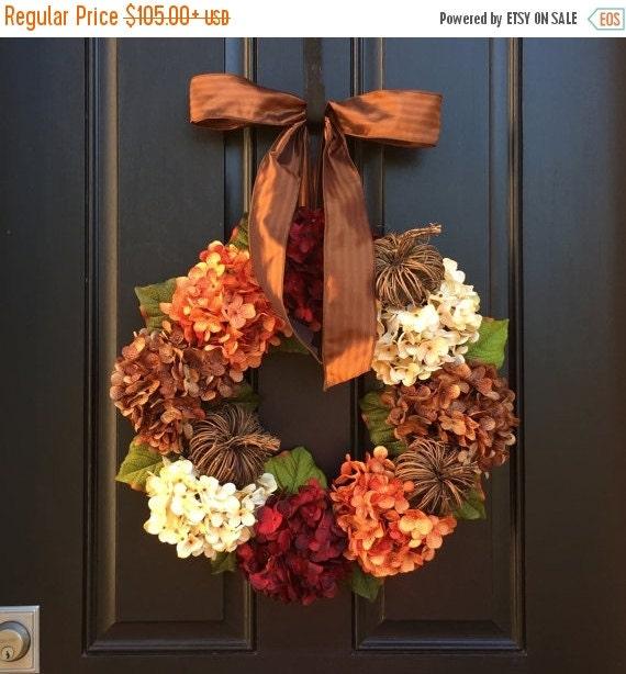 HYDRANGEA WREATH SALE Hydrangea Wreath, Fall Wreath, Front Door Wreaths, Fall Decor, Autumn Wreath, Fall Wreath for Front Door, Wreath, Outd