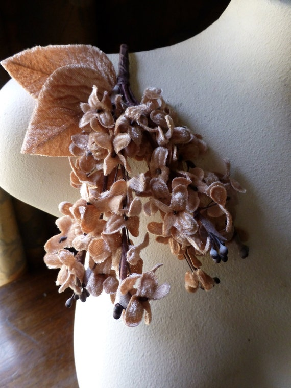 Autumn Rose Flowers Velvet Millinery Lilacs for Bridal, Boutonnieres,  Millinery, Crafts, Corsages MF 201