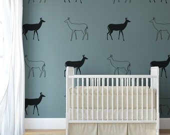 Vinyl Wall Decal Doe Outline, Deer Graphic- 12 Decals, Wallpaper, Stickers, item 10047