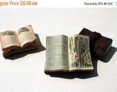 ON SALE Miniature Open Book --- Feathers