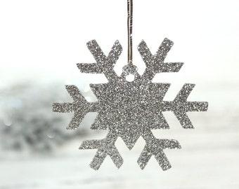 Snowflake Gift Tags - Set of 10 - Christmas gift tags, glitter gift tags