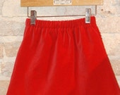 SALE Modern A-line Skirt - Red Cotton Velveteen - Christmas - toddler girls clothing - kids winter fall fashion - sizes 2T 3T 4 5 6 7 8