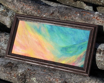 Abstract Oil painting, OOAK