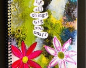 "Grateful for Things Big and Small 5.5"" x 8.5"" Coil Bound Gratitude Journal, Stationery, Wholesale Notebooks"