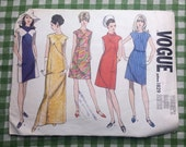 Vogue 1829 vintage sewing pattern, 1966, size 14, bust 34""