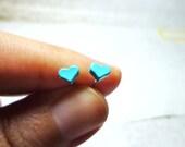 Tiny Pastel Heart Stud Earrings, Dainty Earrings