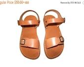 20% OFF Caramel Eclipse Leather Sandals for Men & Women