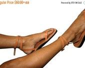SALE Caramel Ankle-Strap Leather Sandals for Men & Women - Handmade Sandals, Leather Flip Flops, Jesus Sandals, Caramel Unisex Leather Sanda